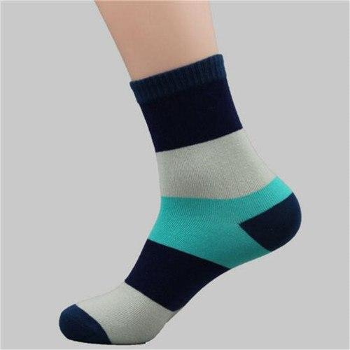 New Arrival 1Pair Cotton Casual Men's Socks Breathable Stitching Color Classic Daily Socks Male Gifts For Boyfriend Men-modlily
