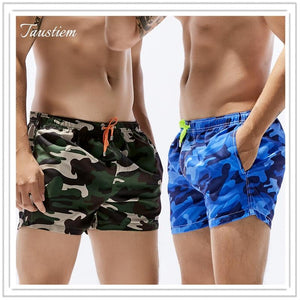 Taustiem Brand Men Swimwear Swimsuits Board Beach Shorts Gay Quick Drying Pockets Shorts Boxer Trunks Sea Casual Short Bottoms-modlily