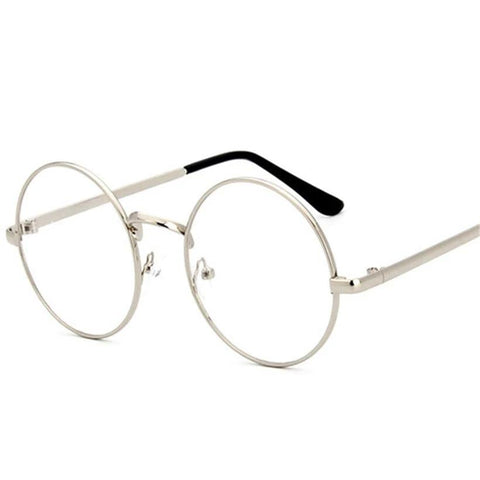 6c19305f78cee YOOSKE Round Spectacle Glasses Frames Glasses With Clear Glass Women Men  Opticalmodlilj-modlily
