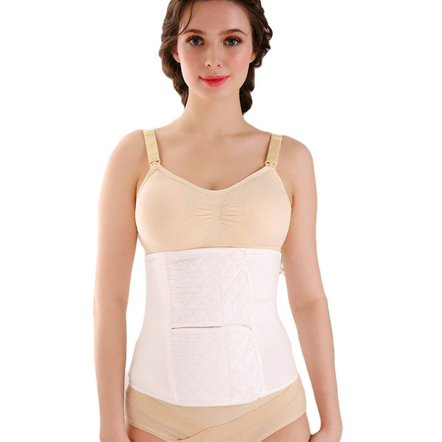 Cotton Postpartum Belly Belt Girdle C Section Recovery Belt for Women Postpartum Corset Belt Belly Band abdominal binder Support-modlily