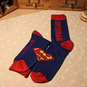 5 Colors New Style Superhero Cotton Socks Men Funny Crew Socks Man Casual American Captain Spring And Autumn Long Socks-modlily