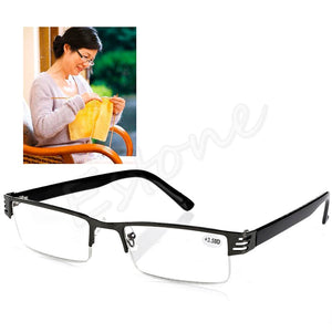 1PC Blue Film Resin Reading Glasses +1.00 1.50 2.00 2.50 3.00 3.50 4.00 Diopter-modlily