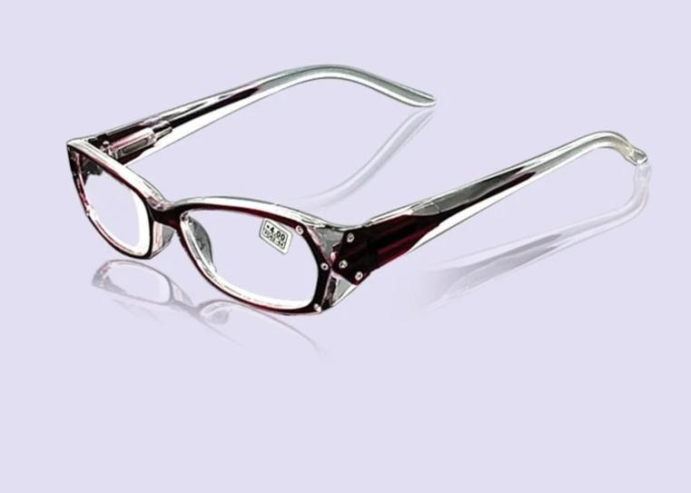 Rhinestone Reading Glasses Women Gafas de Lectura Eyeglass Fashion Spectacles Frames +50 +75 100 125 150 175 200 250 300 350 400-modlily