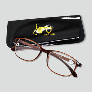 Reading Glasses for Sight Women Men +1.00 +1.50 +2.00 +2.50 +3.00 3.50 4.00 Slim Farsightedness Spectacles with Pouch Free Light-modlily