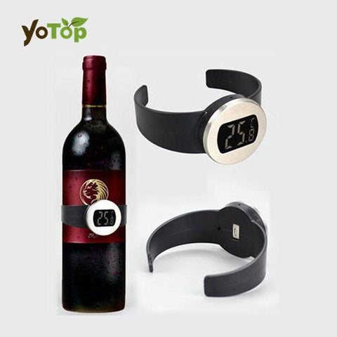 YOTOP New Precise Celsius Digital Electric Wine Bottle Watch Plastic Alloy Thermometer Temperature Drop Shipping