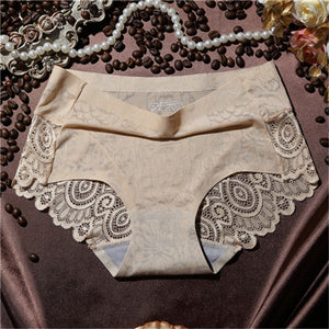 Awaytr Hot Sell Fashion Sexy Brand Ms Underpant Women's Seamless Girls Briefs Shorts Lace Ice Silk Female Underwear Wholesale-modlily