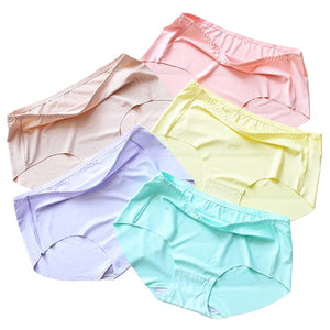 Fainlise 5Pcs/lot Sexy Cotton Women's Panties Printed Briefs Lovely Girls Underwear Wholesale Multicolor Lingerie Intimates-modlily