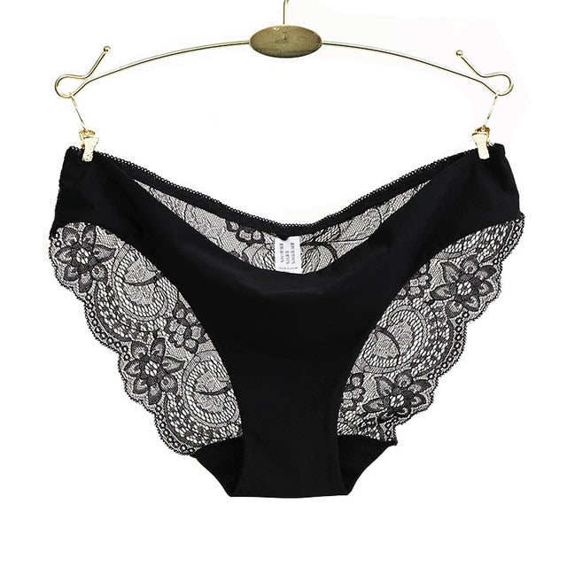 RE Ladies underwear woman panties fancy lace calcinha renda sexy panties for women traceless crotch of cotton briefs hot sale-modlily