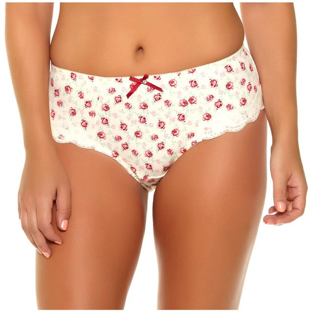 953 Underwear Women Panties Pure Cotton Crotch Modal 6 Colors Floral Print Big Size XL/XXL/XXXL/4XL/5XL/6XL/7XL High-Rise Style-modlily