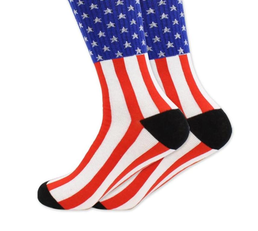 2017 Newly Europe the United States high quality Breathable men cotton socks US flag striped cotton socks and stars flag-modlily