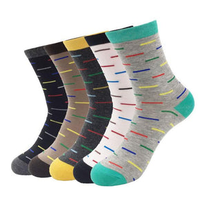 Cotton Men Dress Socks Colored Compression High Quality Brand Non-slip 2017 Autumn/Winter Fashion Socks 5 Pairs/lot-modlily