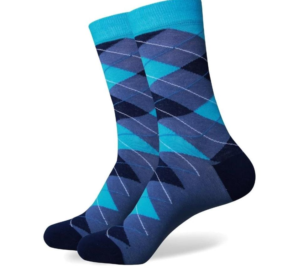 Match-Up Free shipping Men's combed cotton socks high quality fashion christmas MEN argyle socks-modlily