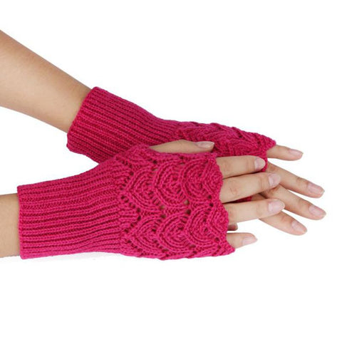 Women's Warm Winter Brief Paragraph Knitting Half Fingerless Gloves guantes mujer Solid color Christmas gloves
