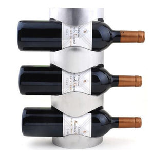 Creative Wine Rack Holders Home Bar Wall Grape Wine Bottle Display Stand Rack Suspension Storage Organizer-modlily