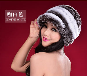 Factory Direct Hot Sale Caps For Women Real Rex Rabbit Fur Hats Genuine Knitted Rex Rabbit Fur Beanies Skullies DL6249-modlily