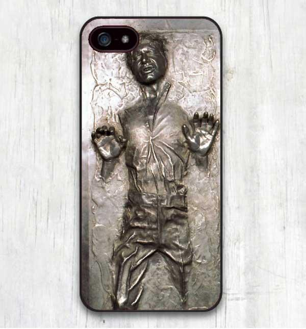 Star Wars R2D2 Han Solo Frozen in Carbonite Cool Print Hard Cases Cover for iphone SE 4 4S 5 5S 5C 6 6S 6Plus 7 7Plus X 8 8Plus-modlily