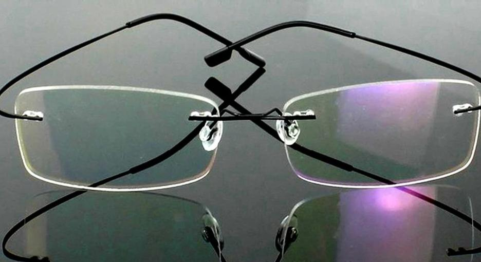 =Clara Vida=2017 GENUINE Brand Titanium 2g frame!! super light Rimless Ultra Light Reading Glasses +1 +1.5 +2 +2.5 +3 +3.5 +4-modlily