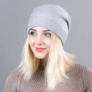 782cc3bece Warm Female Winter Beanie Hats Wool Knitted Caps Women Flashing ...