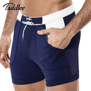 Taddlee Brand Sexy Men's Swimwear Beach Board Shorts Boxer Trunks Swimsuits Bathing Suits Nylon Quick Dry Short Bottoms Shorts-modlily