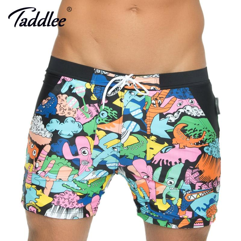 Taddlee Brand New Men Swimwear Swimsuits Board Shorts Long Brazilian Traditonal Cut Basic Boxer Trunks Plus Big Size XXL-modlily