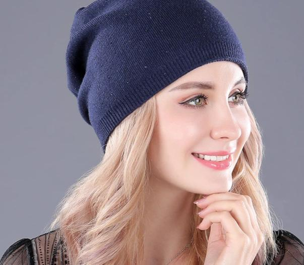 [boapt] soft cashmere knitted folds thick warm winter hats for women's caps skullies beanies female fashion female casual hat-modlily