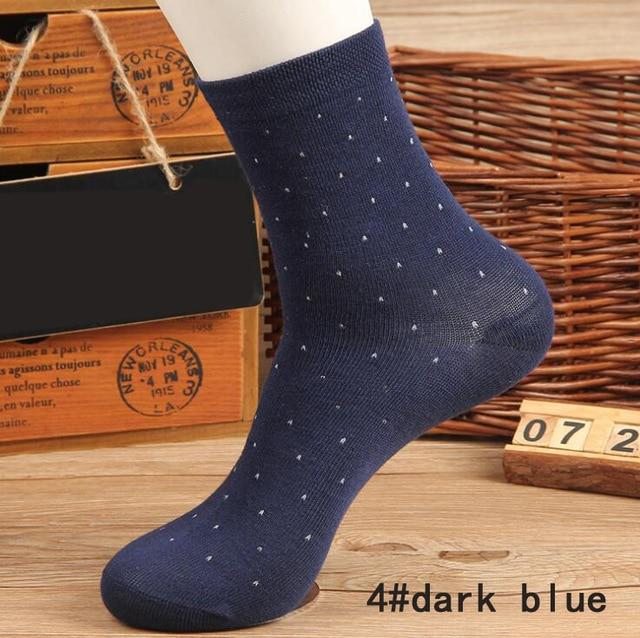 ankle socks dots breathable business casual Polyester cotton elastic short for spring autumn winter Men Man Male Boy-modlily