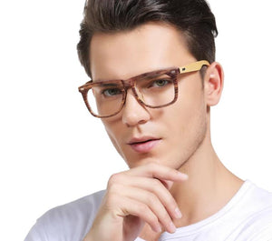 SOOLALA Oversized Wood Bamboo Frame Mens Reading Glasses Full Rimmed Ladies Presbyopia Reading Glass Eyeglasses +0.5 1.5 to 4.0-modlily