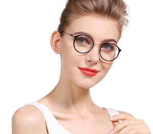 SOOLALA Cat Eye Inspired Round Circle Reading Glasses Women Men +0.5 0.75 1.25 1.75 2.25 2.75 to 4.0 Presbyopic Reading Glasses-modlily