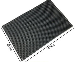 45CM Bar Mat PVC Pad Coaster Placemat Bar Service Rectangle Mat Service of Rubber Bar Beer Whiskey Waterproof Kitchen Placemat-modlily