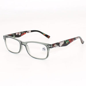 Floral Women's Reading Glasses Transparent for Men Oculos de Leitura Eyeglass Frames Fashion Spectacle +100 +150 200 250 300 350-modlily