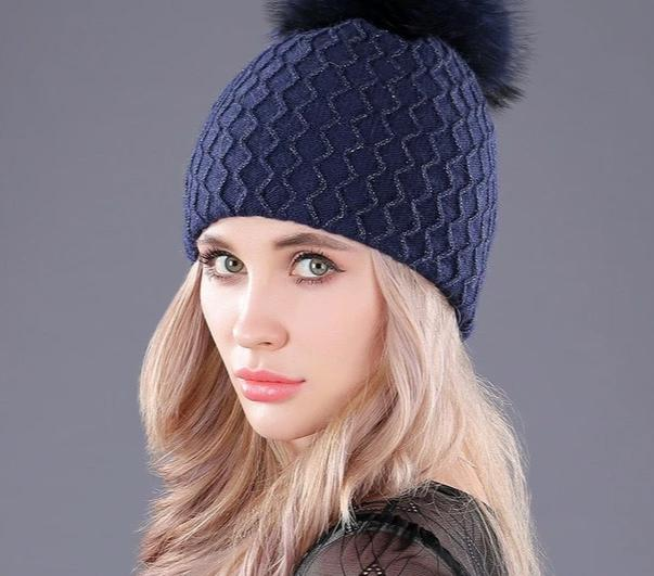 [boapt ] fluffy real raccoon fur pompom hat for women double-deck wool knitting winter hats thick female skullies beanies cap-modlily