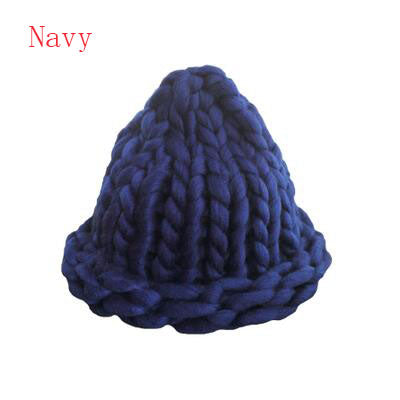 BINGYUANHAOXUAN 2017 Women's Fashion Winter Wool Hat Coarse Lines Outdoor Warm Hat Beanie Knitted Hat Multicolor Optional-modlily
