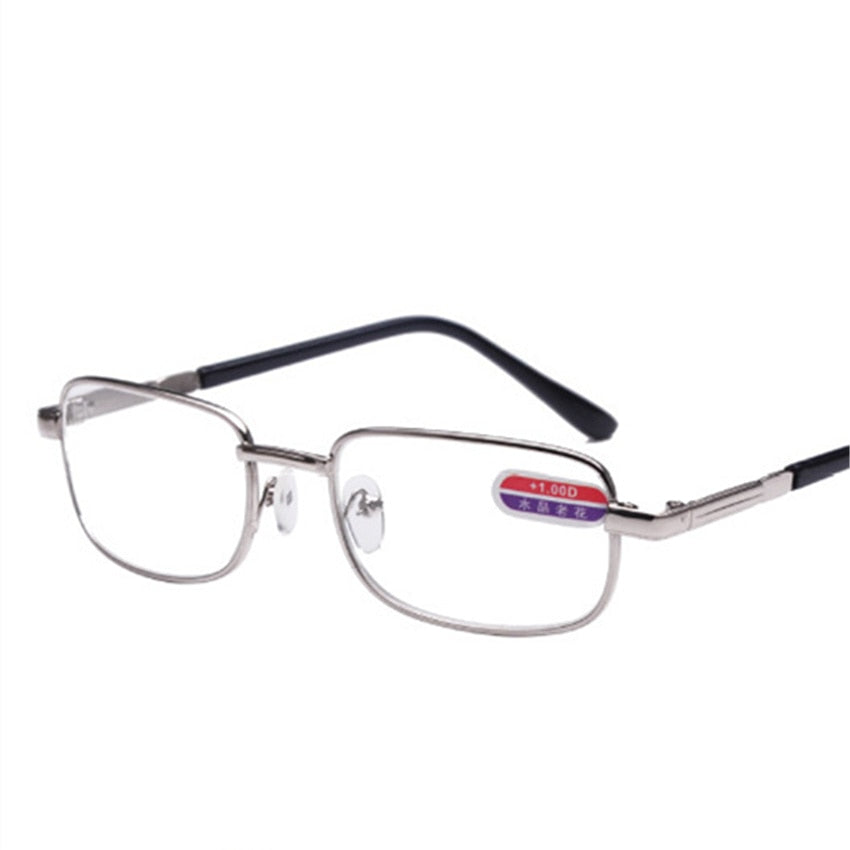 64d18ff96547 YOOSKE Metal Alloy Men Women Reading Glasses Optical Glass Round Presbyopic  Spectacles Frames +1.0 +