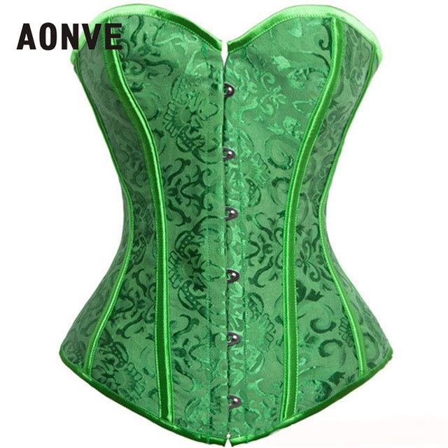 f03dc50fa0 AONVE Corset Sexy Lingerie Brocade Royal Wedding Jarquard Corsets and  Bustiers for Women Modeling Strap Sexy