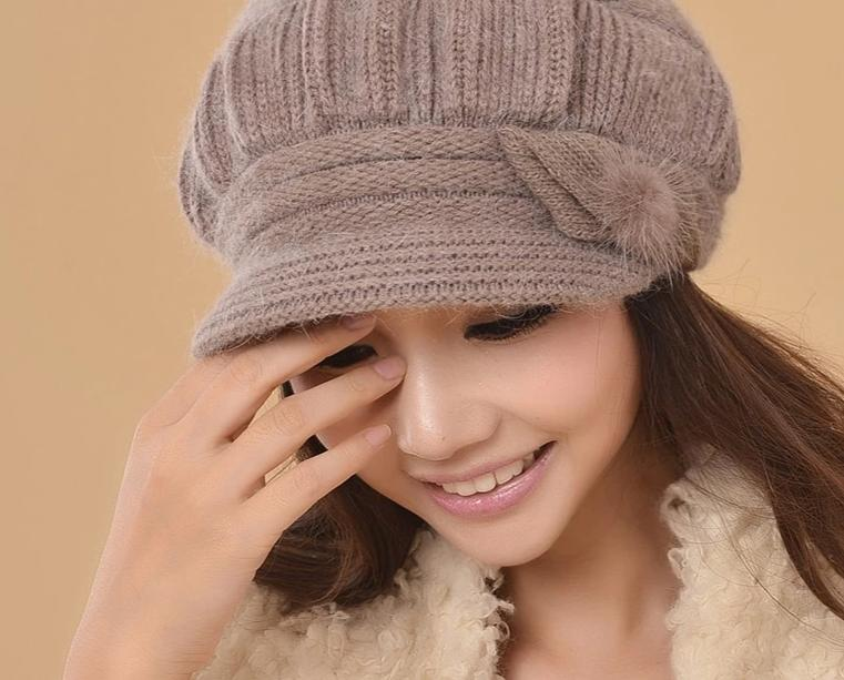 Charles Perra Women Knitted Hats Winter Thicken Double Layer Ear Protection Casual Wool Women's Hat Warm Female Beanies CD63-modlily