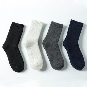 Lucidity Men Warm Socks Absorb Sweat Deodorant Wool Socks For Man Solid Color Comfortable Man's Thicker Socks 1pairs/lot-modlily