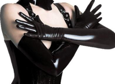 XX61 2017 Sexy Long Latex Gloves Black Ladies Hip-pop Fetish Faux Leather Gloves Clubwear Sexy Catsuit Cosplay Costumes