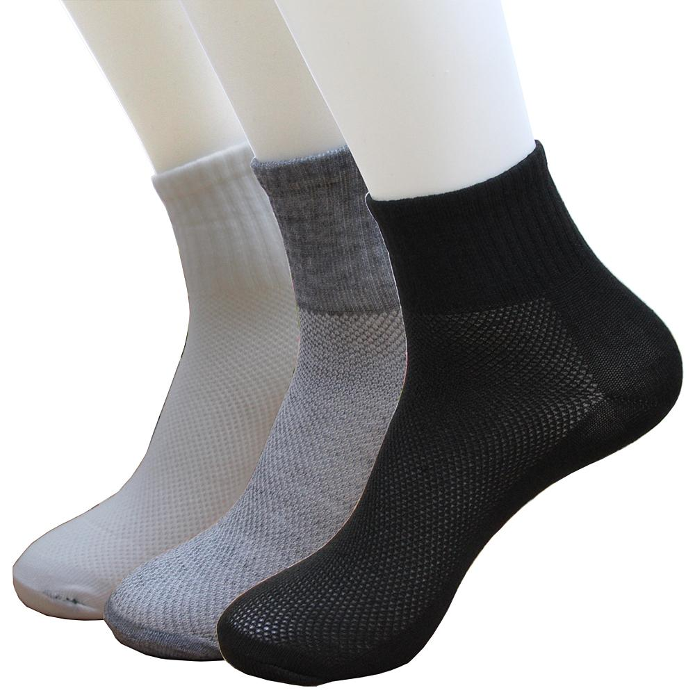 10 Pair/ Lot Fashion New Summer Autumn Style Mens Socks Quality Polyester Cotton Black Gray 3 Color Breathable Mesh Sock For Men-modlily