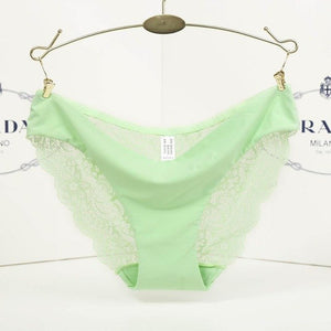 S- XXL 2017 New Women's Sexy Lace Panties Seamless Cotton Breathable Panty Transparent Hollow Briefs Plus Size Girls Underwear-modlily