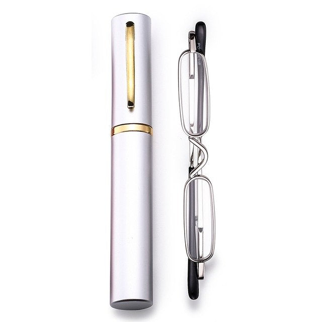 Metal Frame Rimmed Slim Women Men Reading Glasses Glass Lens Presbyopic Eyeglasses Mini Ultralight +1 +1.5+2.0+2.5+3.0+3.5 +4.0-modlily