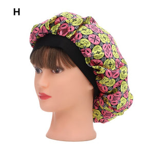 Women New Beauty Salon Cap Night Sleep Cap Head Cover Satin Bonnet Hat For Curly Springy hair chemo cap-modlily