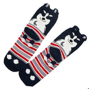 1Pair Men's Socks 3D Animals Patterned Socks Mens Cute Funny Novelty Ankle Sock For Male Short Socks Calcetines Chaussette Homme-modlily