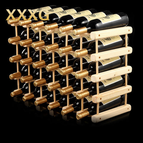 XXXG//DIY Creative Foldable wine rack Wooden Wine Beer Bottle Rack Organizer Holder Mount Kitchen Bar Display wine racks-modlily