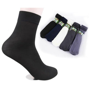 10 Pairs/pack Summer Fashion Cool Black Comfortable Mens Short Bamboo Fiber Socks Stockings Middle Socks-modlily