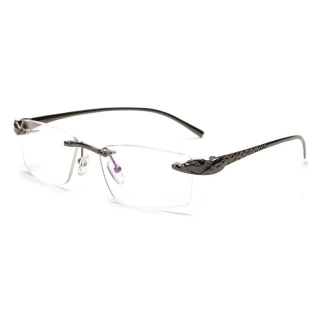 Glasses Man Optical Rimless Alloy Eyeglasses Frame Classic Men Collection withmodlilj-modlily
