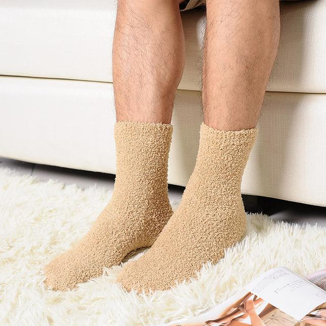 New Extremely Cozy Cashmere Socks Women Men Winter Warm Sleep Bed Floor Home Fluffy happy men Socks Calcetines-modlily