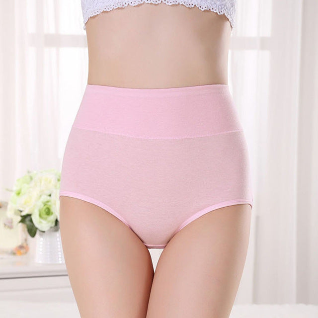 New Underwear Women Panties Cotton Panty High Waist Breathable Panties Plus Size Lingeries Female Underwear Body Shaping Briefs-modlily