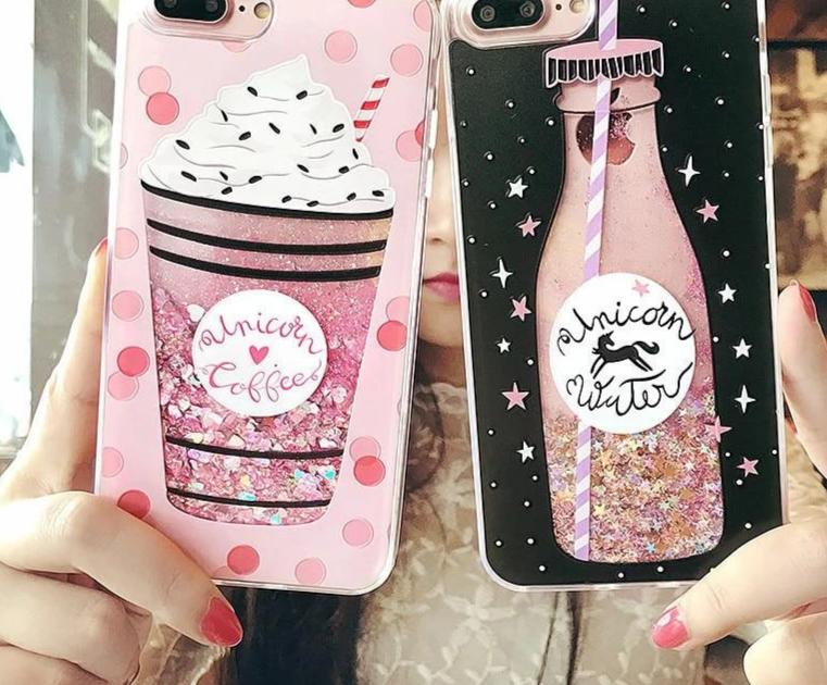 Luxury Cute Drink Bottle Ice Cream Glitter Star Dynamic Liquid Quicksand Phone Case For iPhone 5 5S 5SE 6 6S 7 8 Plus X Cases-modlily