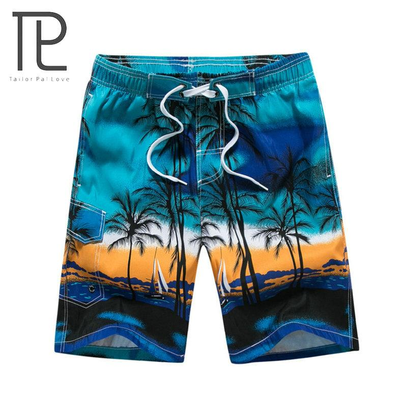 Tailor Pal Love Hot Selling Summer Shorts Men Beach Hawaii Printing Mens Board Shorts-modlily