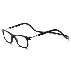 Hindfield Unisex Magnet Reading Glasses Men Women Adjustable Hanging Magnetic Neck Presbyopic Glasses 1.0 1.5 2.0 2.5 3.0 4.0-modlily